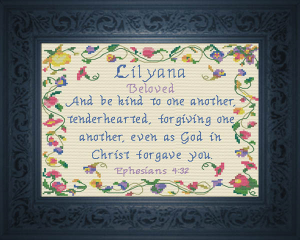 Name Blessings - Lilyana | Crafting | Cross-Stitch | Religious