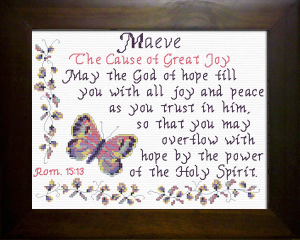 Name Blessings - Maeve | Crafting | Cross-Stitch | Religious