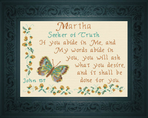 Name Blessings - Martha | Crafting | Cross-Stitch | Religious