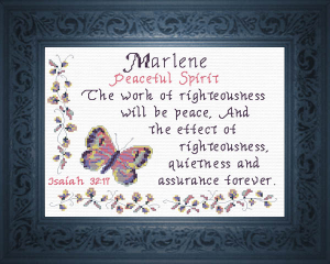 Name Blessings - Marlene | Crafting | Cross-Stitch | Religious