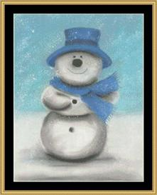 winter collection - blue snowman