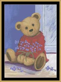 Corner Bear | Crafting | Cross-Stitch | Other