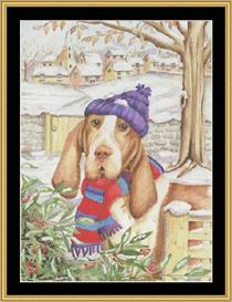 Winter Dog | Crafting | Cross-Stitch | Other