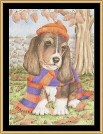 Autumn Dog | Crafting | Cross-Stitch | Other