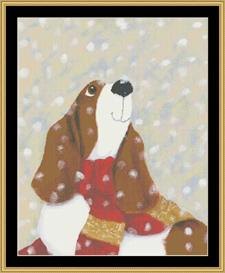 Snow Puppy | Crafting | Cross-Stitch | Other