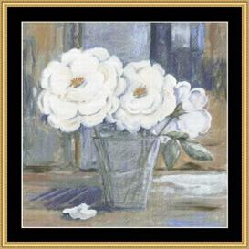White Peonies | Crafting | Cross-Stitch | Other