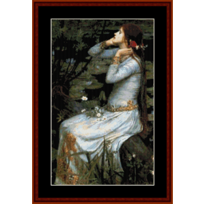 Ophelia - Waterhouse cross stitch pattern by Cross Stitch Collectibles | Crafting | Cross-Stitch | Wall Hangings