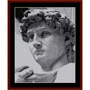 david - michelangelo cross stitch pattern by cross stitch collectibles