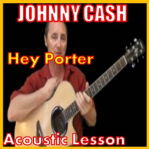 learn to play hey porter by johnny cash