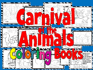 carnival of the animals coloring books set