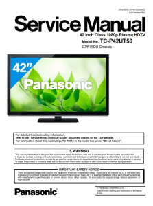 panasonic tc-p42ut50 tv original service manual and repair guide