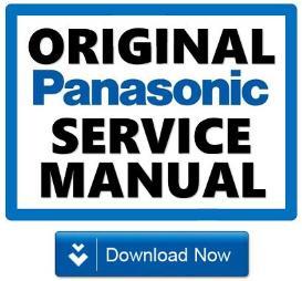 panasonic tx-32led7 26led7 tv original service manual and repair guide