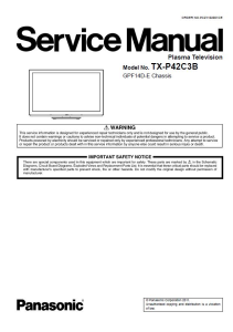 panasonic tx-p42c3b tv original service manual and repair guide