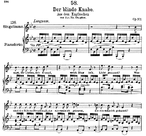 Der blinde knabe D. 833, High Voice, Ed. Peters Friedl. | eBooks | Sheet Music