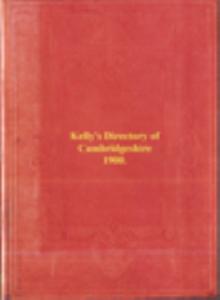 kellys cambridgeshire directory 1900