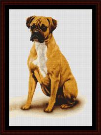 Boxer - Robert J. May cross stitch pattern by Cross Stitch Collectibles | Crafting | Cross-Stitch | Wall Hangings