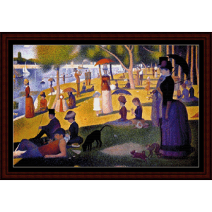 sunday afternoon in the park postersize - seurat cross stitch pattern by cross stitch collectibles