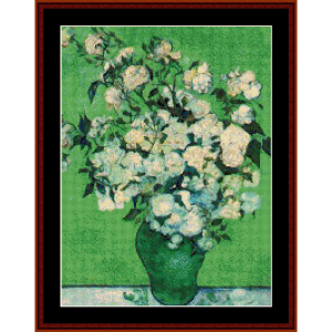 Vase of Roses - Van Gogh cross stitch pattern by Cross Stitch Collectibles | Crafting | Cross-Stitch | Wall Hangings