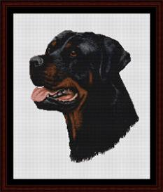 Rottweiler - Robert J. May cross stitch pattern by Cross Stitch Collectibles | Crafting | Cross-Stitch | Wall Hangings