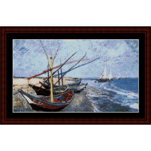 Fishing Boats on the Beach - Van Gogh cross stitch pattern by Cross Stitch Collectibles | Crafting | Cross-Stitch | Other