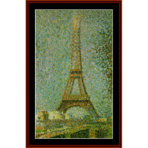 Eiffel Tower - Seurat cross stitch pattern by Cross Stitch Collectibles | Crafting | Cross-Stitch | Wall Hangings