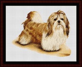 Shitzu - Robert J. May cross stitch pattern by Cross Stitch Collectibles | Crafting | Cross-Stitch | Wall Hangings