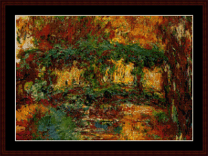 Japanese Bridge - Monet cross stitch pattern by Cross Stitch Collectibles | Crafting | Cross-Stitch | Wall Hangings