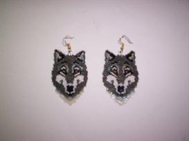 Brick Stitch WOLF Delica Beading Earring Pattern | Other Files | Arts and Crafts