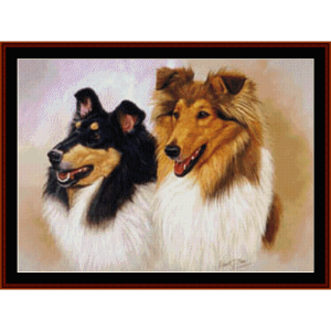 Collies - Robert J. May cross stitch pattern by Cross Stitch Collectibles | Crafting | Cross-Stitch | Wall Hangings