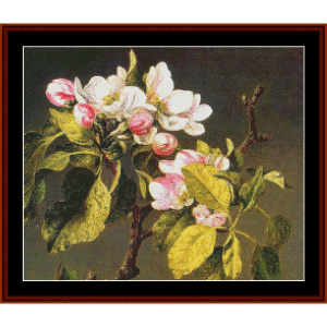 Apple Blossoms - Heade cross stitch pattern by Cross Stitch Collectibles | Crafting | Cross-Stitch | Wall Hangings