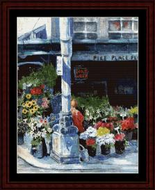 pike place flowers - suzypal cross stitch pattern by cross stitch collectibles