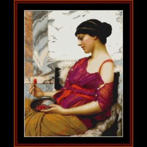 Ismenia - Godward cross stitch pattern by Cross Stitch Collectibles | Crafting | Cross-Stitch | Wall Hangings