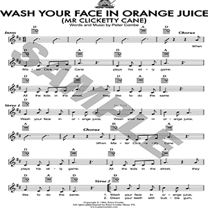 peter combe - wash your face in orange juice (mr clicketty cane)