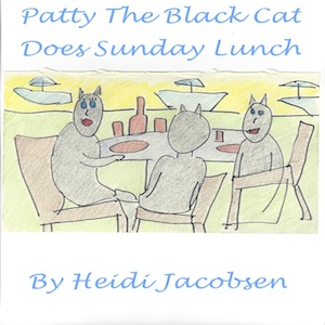 patty the black cat does sunday lunch