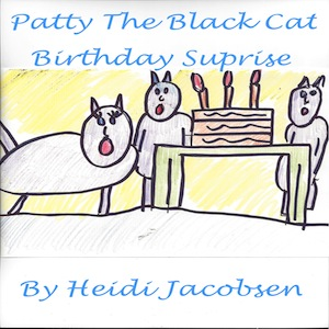 patty the black cat birthday surprise