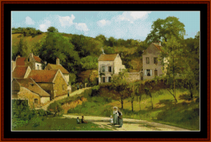 Hermitage of Pontoise - Pissarro cross stitch pattern by Cross Stitch Collectibles | Crafting | Cross-Stitch | Other