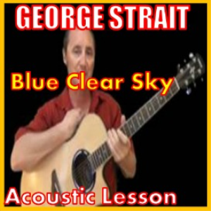 learn to play blue clear sky by george strait