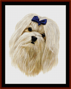 maltese - robert j. may cross stitch pattern by cross stitch collectibles