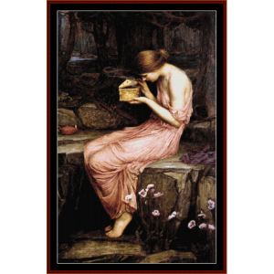 Psyche Opening Golden Box - Waterhouse cross stitch pattern by Cross Stitch Collectibles | Crafting | Cross-Stitch | Other