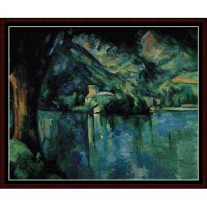 Lake Annecy  - Cezanne cross stitch pattern by Cross Stitch Collectibles | Crafting | Cross-Stitch | Other