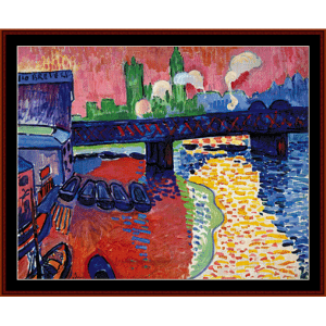 Charing Cross Bridge - Derain cross stitch pattern by Cross Stitch Collectibles | Crafting | Cross-Stitch | Wall Hangings