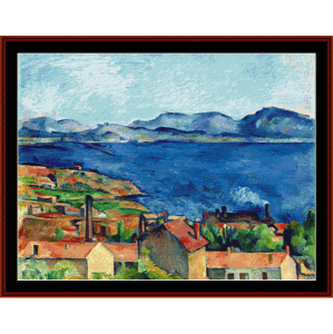 Bay of Marseilles - Derain cross stitch pattern by Cross Stitch Collectibles | Crafting | Cross-Stitch | Wall Hangings