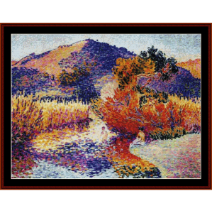 river in saint clair - cross cross stitch pattern by cross stitch collectibles