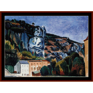 Cliffs - Derain cross stitch pattern by Cross Stitch Collectibles | Crafting | Cross-Stitch | Wall Hangings