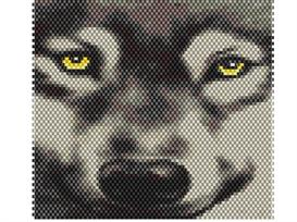 Brick Stitch Wolf Delica Seed Beading Panel Pattern | Other Files | Arts and Crafts