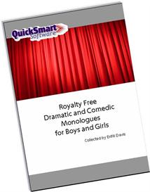 Drama Audition Monologues for Boys and Girls | eBooks | Plays and Scripts