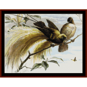 birds of paradise i - wildlife cross stitch pattern by cross stitch collectibles