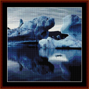 Iceberg Reflections - Scenic cross stitch pattern by Cross Stitch Collectibles | Crafting | Cross-Stitch | Wall Hangings