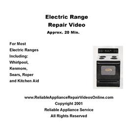 Electric Range Repair Video - Downloadable