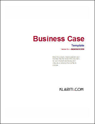 business case template software software templates. Black Bedroom Furniture Sets. Home Design Ideas